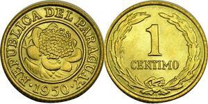 elf Paraguay 1 Centimo 1950  Flower