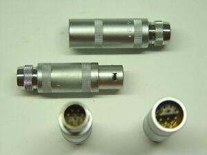 LEMO Größe II (2S) Pärchen Stecker + Buchse 10 polig F/PC.2.M10 ( alte Version )
