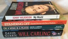 Joblot Bundle Of 4x Rugby Books Inc. Wilkinson, Carling, Davies & Campese