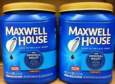 Maxwell House Ground Coffee Original Roast 2 Cans x 42.5 oz = 85 oz Total