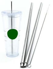 2 Venti Starbucks Replacement Straw Stainless Steel Reusable, Washable Drinking