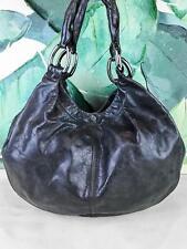 9cafd306ef36  1290 MIU MIU Gray Glazed Leather Hobo Shoulder Bag Large Snap Silver HW  SALE!