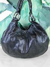 e15fba61978a  1290 MIU MIU Gray Glazed Leather Hobo Shoulder Bag Large Snap Silver HW  SALE!