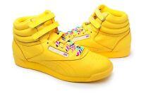 Reebok Women Shoes Freestyle HI top Rainbow 2-176156 Yellow