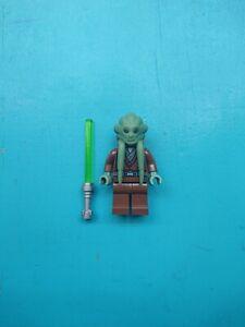 Lego Star Wars Minifigure Jedi Kit Fisto w/ Lightsaber 8088 7661!