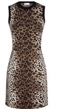 NWT RED Valentino Heart-Leopard-Print Dress Size M