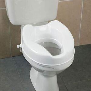 Homecraft Savanah Raised Toilet Seat Lid 5 inch High Elevated Toilet Seat 15 cm