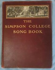 Vintage  1900s Simpson College Song Book Sheet Music Indianola IA Iowa 100 pages
