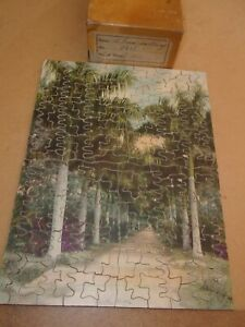 Vintage Antique Jigsaw Puzzle A Royal Pathway1509x12Complete Palm trees