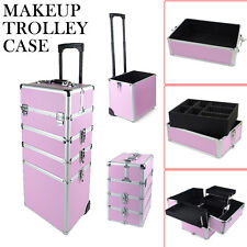 4 in 1 Makeup Vanity Case Cosmetics Nail Kit Hairdressing Box Beauty Trolley
