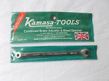 "KAMASA  TOOLS, BRAKE ADJUSTER,BLEED SPANNER.1/4"" A/F HEX & 5/16 AF OPEN END."