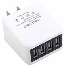 4-Port USB Wall Charger Power Adapter US Plug For iPhone Samsung Android LG HTC
