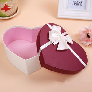 Heart Shaped Gift Box Creative Christmas Present Case Candy Box Valentine's