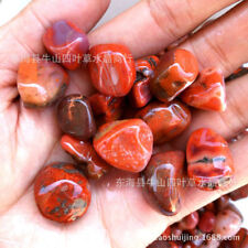 100G Natural Red Agate Tumbled Stone Crystal Quartz Chips Healing Specimen Reiki