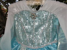 Disney Store  Elsa Deluxe princess Costume for Girls  Frozen new size 5/6 FANCY