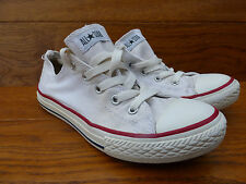 CONVERSE CHUCK TAYLOR ALL STAR WHITE CANVAS TRAINERS SIZE 2 / 34