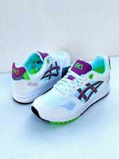 New Asics Tiger Gel Saga Mens Running Training Shoe Whte-Orchid-Neon US 12.5 NEW