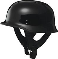 Fly Racing 9MM Half Helmet Solid Colors Black F73-8220~5 XL