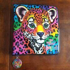 Lisa Frank Cheetah 3-ring Binder Zip Up W Matching Spiral Notebook and Keychain