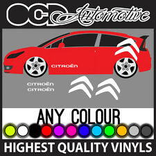 Citroen C2 C3 C4 DS3 saxo côté graphique stickers autocollants kit big logo loeb vtr