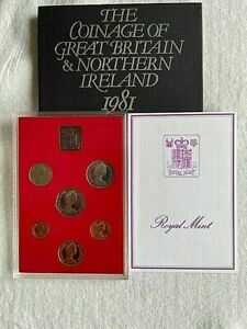 1981 BU Royal Mint 6 Coin Frosted PROOF Set Britannia  50p to 1/2p
