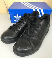 finest selection 37024 1a0c9 adidas Mens Black Leather Originals Rooksmead SNEAKERS Athletic Shoes 11