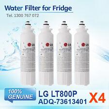 4x GENUINE LG ADQ73613401, LT800P FRIDGE FILTER