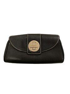 Kate Spade Black Leather Clutch