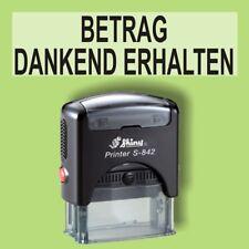 BETRAG DANKEND ERHALTEN Shiny Printer Schwarz S-842 Büro Stempel Kissen schwarz