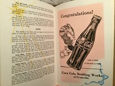 Vtg Book of Baby Mine Babyhood Record 1955 with Ads From Evansville In Stores