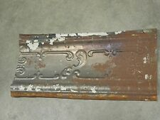 "Old Antique ( Metal ) tin ceiling tile / tiles 23"" x 9"" cornice"