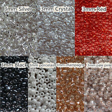 720pcs,3mm Crystal Glass Loose Spacer Beads tube Jewelry finding sewing craft B6