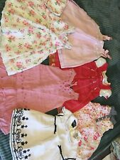 Lot of six cute baby girl dresses 12/18 months.