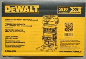 DeWalt DCW600B 20-Volt Depth Adjusting Brushless Cordless Router Bare Tool NEW !