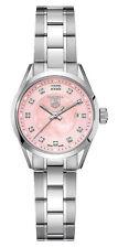 Ladies Tag Heuer Carrera WV1417.BA0793 Pink Pearl Diamond Swiss Quartz Watch