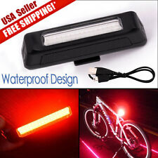 6 Modes Red COB 1LED Bicycle Bike Cycling Front Rear Light USB Rechargeable Lamp