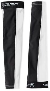 Canari Cyclewear Men's Mixed Weight Arm Warmers, White, LARGE