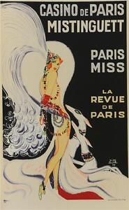 Casino de Paris Mistinguett Poster Fine Art Lithograph Zig Louis Gaudin S2