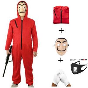 3PCS Money Heist Halloween costume COMPLETE SET Kids & Adult