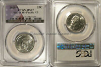 2019 S Guam War in the Pacific NP Quarter 25c PCGS MS67 USA Flag