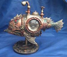 Steampunk SUB PIRANHA Ornamento Nemesis Now Nuovo Inscatolato Sottomarino Pesci Ornamento