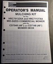 1999 HONDA MULCHING KIT HRC7013ZXA & HRC7113TXA MOWERS OPERATORS MANUAL (643)