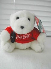 Coca-Cola - PELUCHE OURS PULL ROUGE 10 CM 1997 PLUSH NEUF