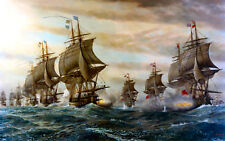 V. SVEG Battle Of Virginia Capes, Naval Battle Painting, NEW Fine Art Print