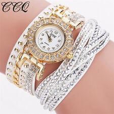 Luxury Women Stainless Steel Crystal Bracelet Ladies Dress Quartz Wrist Watch UK