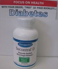 (1)  SUCONTRAL-D 60cap,EUROMEDICA, BLOOD SUGAR BALANCE, FREE BOOKLET ON D!ABETES