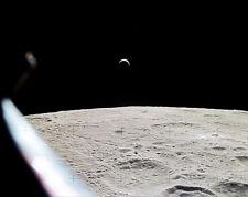 Earthrise über Lunar Oberfläche von Nasa Apollo 15 8x10 Silber Halogen Fotodruck