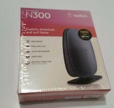 Belkin N300 4 Port Wi-Fi N Wireless Router Strong Range 300 Mbps Model F9K1007