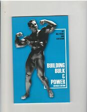 BILL PEARL Building Bulk & Power Bodybuilding booklet Revised Edition