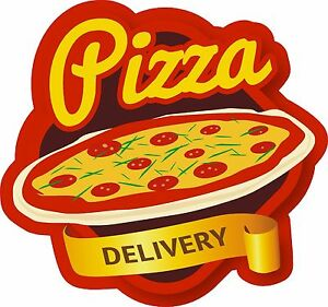 PIZZA DELIVERY VINYL WINDOW GRAPHIC, STICKER, DECAL